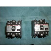 (LOT OF 2) CUTLER-HAMMER D26MB Type M Relay, 600VAC, 120VAC COIL