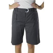 10 NEW Authentic Theory Pinol Grey Belted Bermuda Long Walking/Golf Dress Shorts
