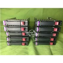 "Lot (10) HP SAS SATA DL380 G5 G6 DL580 G5 G6 2.5"" Hard Drive Caddy  [54]"