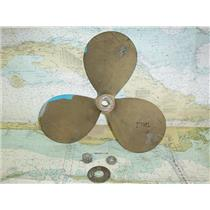 """Boaters' Resale Shop of Tx 1604 0775.04 BRONZE 3 BLADE 17LH11 PROP FOR 1"""" SHAFT"""