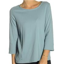 NWT Madison Hill Blue Twisted Crew Neck Split 3/4 Sleeve Jersey Knit T-Shirt/Top