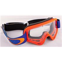 Oakley Youth XS O Frame Goggle SHOCKWAVE Orange Blue Frame/Clear
