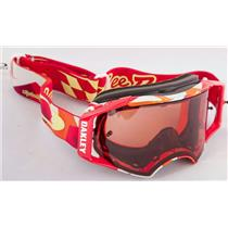 Oakley Airbrake MX Troy Lee Splinter Org/Red W/ Prizm MX Bronze Goggles