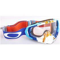 Oakley Mayhem Pro Goggle Pinned Race Blue Orange W/ Clear