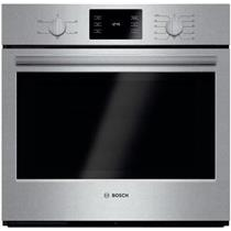 "Bosch 500 30"" 4.6 cu ft EcoClean SS Thermal Single Electric Wall Oven HBL5351UC"