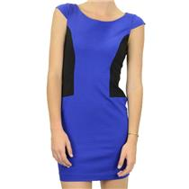 0 NWT Authentic Cynthia Steffe Blue/Black Colorblock Cap Sleeve Mini Shell Dress