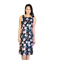 New! Sz 2 Rachel Roy Black Floral Whip Stitch Hem Cotton Stretch Sheath Dress