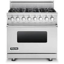 Viking Professional Series VDSC5366BSS 36 Inch Pro-Style Dual-Fuel Range
