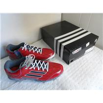 Adidas PowerAlley 2 Mens Baseball Cleat 15 Red-Carbon Met-Onix New