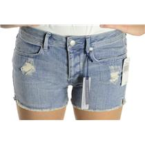 25 NWT Juicy Couture Jeans Kayla High Rise Denim Distressed Cut Off Shorts