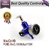 Adjustable High Fuel Pressure Regulator Oil Gauge Aluminum Racing 0-140 PSI