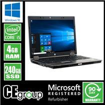 "HP Laptop PC Elitebook 8740w 17"" i5 Windows 10 240GB SSD 4GB NVIDIA Quadro [56]"