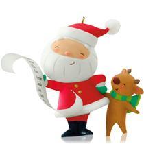 Hallmark Series Ornament 2014 Kringle and Kris #1 - Santa and Reindeer - #QX9226