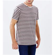 Quiksilver Stitched Up Tee Striped/Spotted Snow White Medium