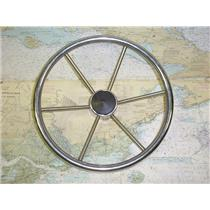 "Boaters' Resale Shop of Tx 1606 0724.01 STAINLESS 15"" STEERING WHEEL- 3/4"" SHAFT"