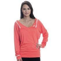NWT S Asics Coralicious Orange Women's Athlete Long Sleeve Tennis Top w/ V-Neck