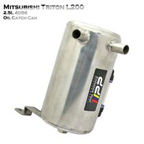 Stainless Steel Oil Catch Can Tank Fit Mitsubishi Triton L200 15++ 2.5L 4D56