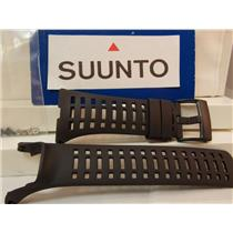 Suunto watch band Ambit 3 Peak Black Rubber Strap w/Attaching Nuts/Bolts