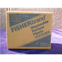(LOT OF 3) FISHER SCIENTIFIC LAB GLASS 1367820A PIPET DISP 5 3/4 IN. 144 COUNT