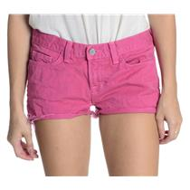 "Sz 26 J Brand Bright Fuchsia Pink 100% Cotton Denim Shorts w/1"" Inseam 1046O250"