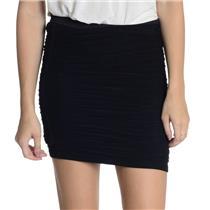 NWT! XS Elizabeth and James Black Lorenza Mesh Overlay Ruched Bodycon Mini Skirt