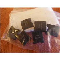 Crestron B6-BTN-BKLT Black Engraved Textured Buttons for Bathroom - NEW