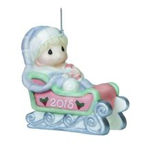 Precious Moments Ornament 2015 Babys First Christmas - Boys - #151006
