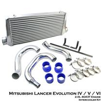 Turbo Intercooler Kit Fit Mitsubishi Lancer Evolution EVO 4 5 6 2.0L 4G63T
