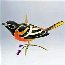Hallmark Series Ornament 2011 Beauty of Birds #7 - Baltimore Oriole - #QX8787-DB