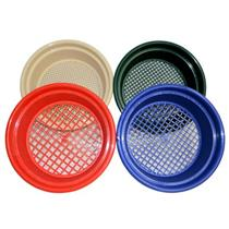 Set of 4 Keene Engineering Economy Stackable Classifying Sieves 1/4-3/8-9/16-3/4