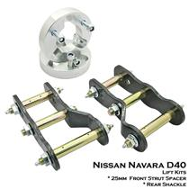 "25mm Strut Spacer+Shackle Extended 1.5""+2"" Lift Kit Nissan Navara D40 05-15"
