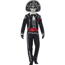 Smiffy's Senor Bones Mens Mexican Day of the Dead Fancy Adult Costume Size Large