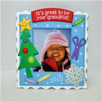 Hallmark Ornament 2010 Its Great to be Your Grandkid -  Photoholder #QXG7466-DB