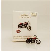 Hallmark Miniature Series Ornament 2010 1972 Harley Davidson XR-750 #QXM9026-SDB