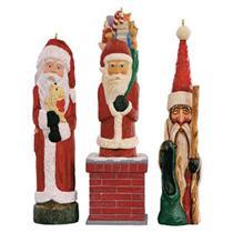 Hallmark Keepsake Club Ornament Set 2016 Rustic Santas - Three Santas - #QXC5111