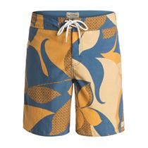 """Quiksilver Mens Viceroy 19"""" Boardshorts Blue/Yellow 34"""