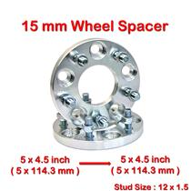 2 pcs 15 mm 5 Studs 12 x 1.5 PCD 5 x 114.3 to 5 x 114.3 mm Wheel Spacer Spacers
