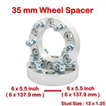 2 pcs 35 mm 6 Studs 12 x 1.25 PCD 6 x 139.7 to 6 x 139.7 mm Wheel Spacer Spacers