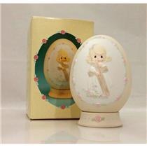 Precious Moments Egg Figurine 1991 I Will Cherish the Old Rugged Cross - #523534