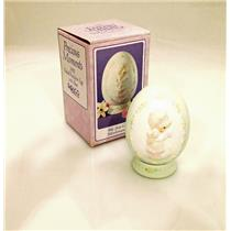 Precious Moments Egg Figurine 1991 We Are Gods Workmanship - #525960