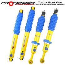 4 Step Adjustable Strut Shock Absorber Toyota Hilux KUN26 4WD 05-15 0-50mm Lift