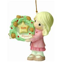Precious Moments Ornament 2010 My Hope Is In You - Girl with Wreath - #101002