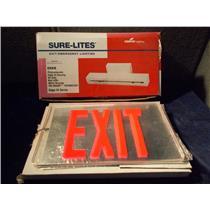SURE LITES EXIT/EMERGENCY LIGHT HOUSING EH6R W/ EXIT SIGN PLATE ET1RU