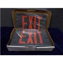 Simkar Exit Sign SLEDBRB 66-00011 LED 120/277v Black Housing/Red Letters