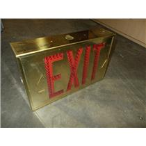 Gold Hubbell 2-Sided LED Exit Sign  #LED-2-EM 120/277V 6VDC Battery Back-up
