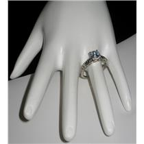 FASHION Sample Closeout Silver Alloy Ring W/ CZ Accent Designs Size 7 N587-Z