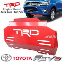 TRD Red Steel Front Engine Bash Plate Sump Guard Fit Toyota Hilux Revo SR5 15++