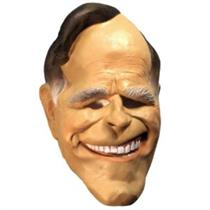 Cesar Adult Soft Vinyl Bush Smiling Overhead Costume Mask 1988