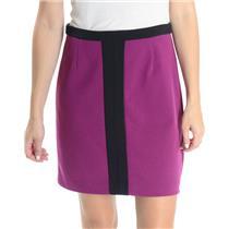 4 Laundry By Shelli Segal Fuchsia Purple/Black Jersey Knit Stretch Pencil Skirt