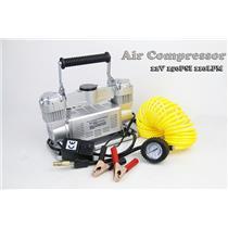 150PSI 110LPM 12V Twin Cylinder Car Air Compressor Tyre Deflator Inflator 4X4